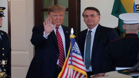 Guaidó recibe apoyo en conjunto de Trump y Bolsonaro