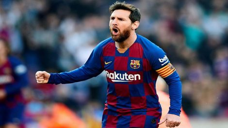 Lionel Messi festejó su gol 700