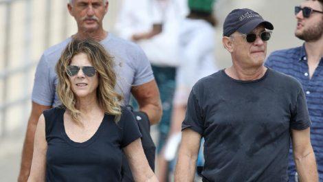 Tom Hanks y Rita Wilson vuelven a EEUU luego de estar contagiados