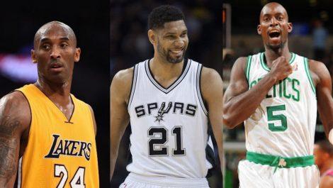 Kobe Bryant, Tim Duncan y Kevin Garnett serán los nuevos inmortales de la NBA
