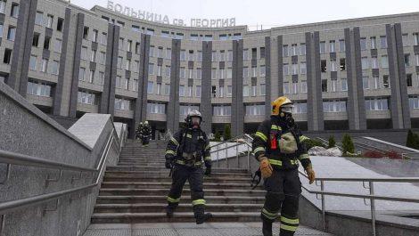 Incendio en hospital ruso dejó cinco pacientes con Covid-19 muertos