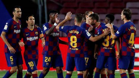 El Barcelona derrota al Leganés y se mantiene firme en la cima