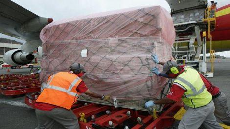 Arriban al país más de 80 toneladas de insumos médicos provenientes de China