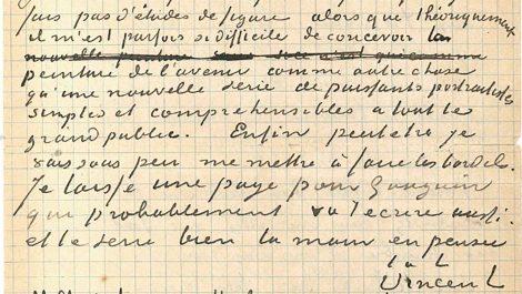 Vendida por más de 200.000 euros una carta de Gauguin y Van Gogh