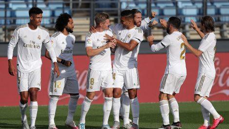 El Real Madrid a media maquina superó al Eibar
