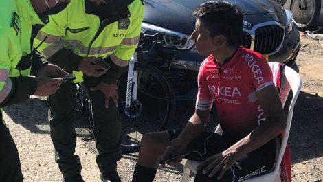 Nairo Quitana sufrió una accidente este viernes