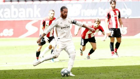 El Real Madrid se llevó el triunfo en San Mamés con otro penal de Sergio Ramos