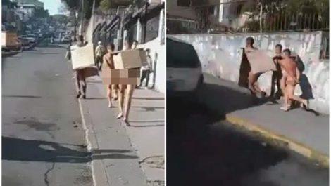 Vecinos del El Llanito pusieron a correr desnudos a ladrones (+videos)