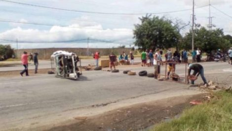 Las protestas por gasolina llegaron a Margarita (+FOTOS)