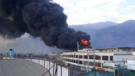 Detenido sospechoso involucrado en incendio de galpones del CNE