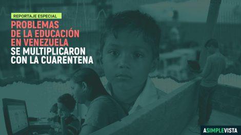 Problemas de la educación en Venezuela se multiplicaron con la cuarentena