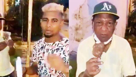 Buscado por la policía 'influencer' colombiano que hizo comer jabón a ancianos como si fuera helado