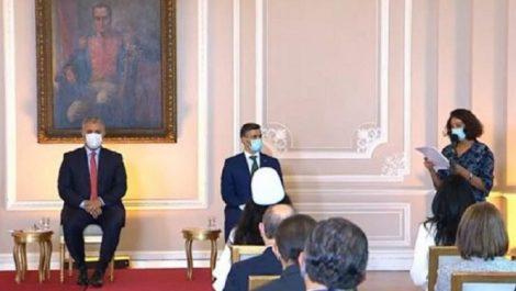Iván Duque recibe a Leopoldo López en la Casa de Nariño