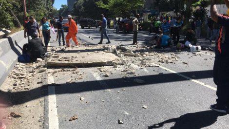 Se desplomó la pasarela de San Agustin del Sur, en La Charneca
