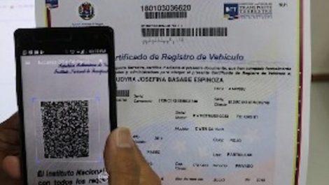 intt registro vehículo