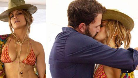 Jennifer Lopez celebra su cumpleaños 52 luciendo su figura en bikini y besando a Ben Affleck