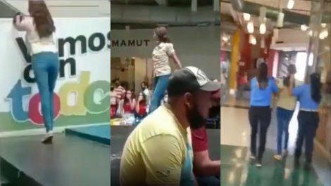 Sólo estaba bailando: el video de la mujer expulsada del C.C. Metrópolis en Barquisimeto