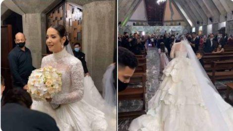 Así fue la boda de Daniela Alvarado este sábado en Caracas