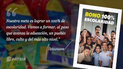 Inician entrega de Bono «100% Escolaridad» de septiembre, conoce cuál es el monto