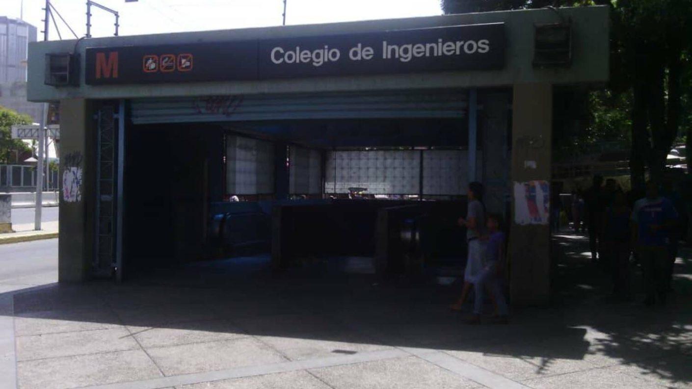 Asesinado a balazos un hombre cerca de la estación Colegio de Ingenieros